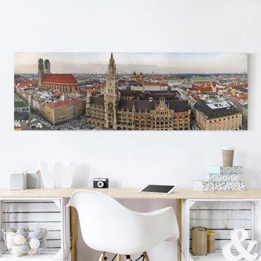 Stampa su tela - City Of Munich - Panoramico
