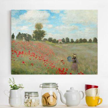 Stampa su tela - Claude Monet - Campo di papaveri a Argenteuil - Orizzontale 4:3