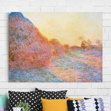 Stampa su tela - Claude Monet - Pagliaio alla Luce del Sole - Orizzontale 4:3