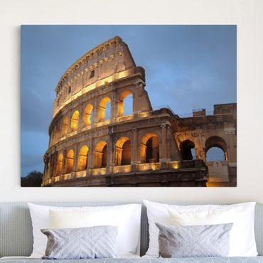 Stampa su tela - Colosseum At Night - Orizzontale 4:3