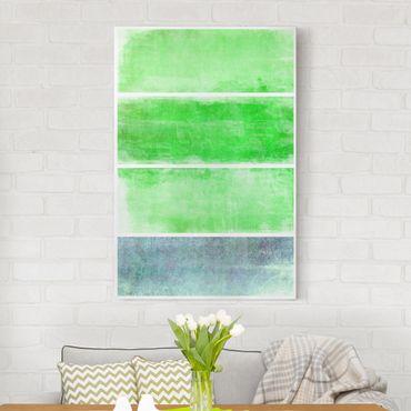 Stampa su tela Colour Harmony Green - Verticale 2:3