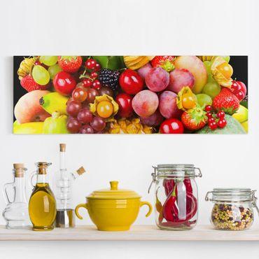 Stampa su tela - Colourful Exotic Fruits - Panoramico
