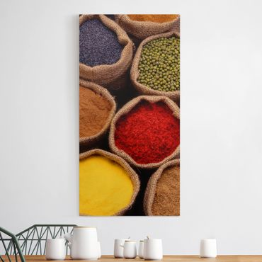 Stampa su tela - Colorful Spices - Verticale 1:2