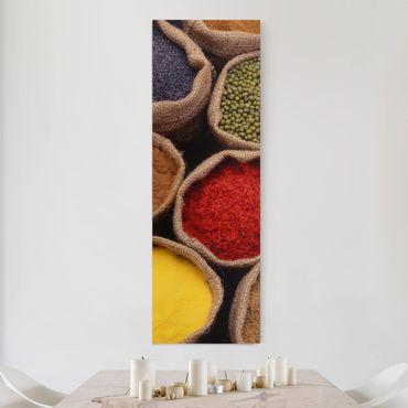 Stampa su tela cucina - Spezie colorate - Pannello