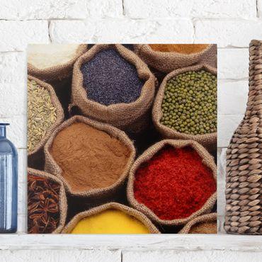 Stampa su tela - Colorful Spices - Quadrato 1:1