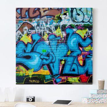 Stampa su tela - Colors Of Graffiti - Quadrato 1:1