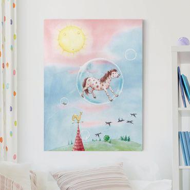 Stampa su tela - Bubble Pony - Verticale 3:4