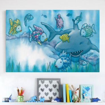 Stampa su tela - The Rainbow Fish - Shark Attack - Orizzontale 3:2