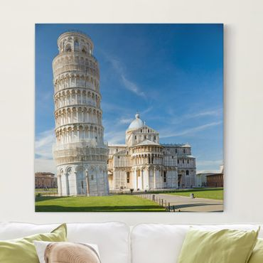 Stampa su tela - The Leaning Tower Of Pisa - Quadrato 1:1