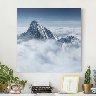 Stampa su tela - The Alps Above The Clouds - Quadrato 1:1