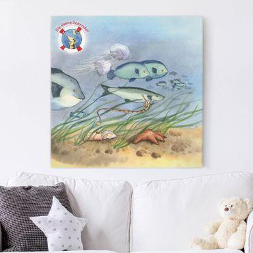Stampa su tela - The Small Pipefish © Group Swimming - Quadrato 1:1