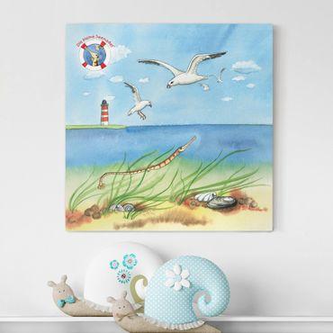 Stampa su tela - The Small Pipefish © Seagulls - Quadrato 1:1