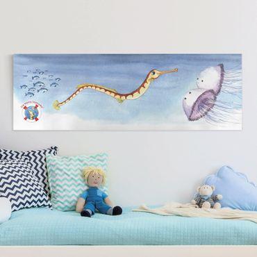 Stampa su tela - The Small Pipefish © Cliff - Panoramico