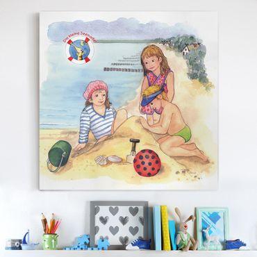 Stampa su tela - The Small Pipefish © Beach Visit - Quadrato 1:1