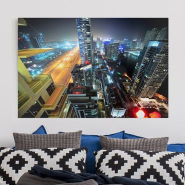 Stampa su tela - Dubai Lights - Orizzontale 3:2