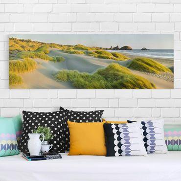 Stampa su tela - Dunes And Grasses At The Sea - Panoramico