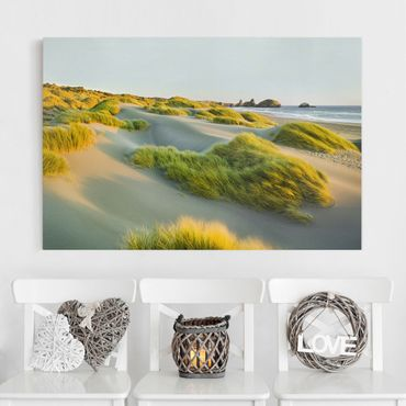 Stampa su tela - Dunes and grasses at the sea - Orizzontale 3:2