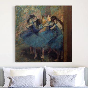 Stampa su tela - Edgar Degas - The blue Dancers - Quadrato 1:1