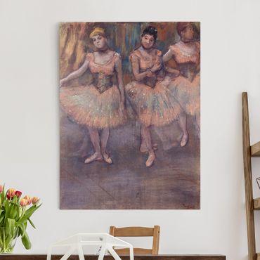 Stampa su tela - Edgar Degas - Tre Ballerine prima di Esercizio - Verticale 3:4