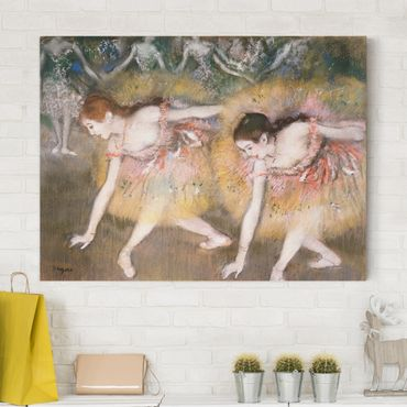 Stampa su tela - Edgar Degas - Ballerini Chinandosi - Orizzontale 4:3