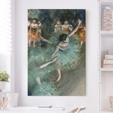 Stampa su tela Edgar Degas - Ballerina verde - Verticale 2:3