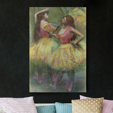 Stampa su tela Edgar Degas - Prima del Debutto (Due Ballerine) - Verticale 2:3
