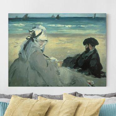 Stampa su tela - Edouard Manet - Sulla Spiaggia - Orizzontale 4:3
