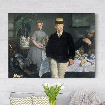 Stampa su tela - Edouard Manet - Pranzo in Studio - Orizzontale 4:3