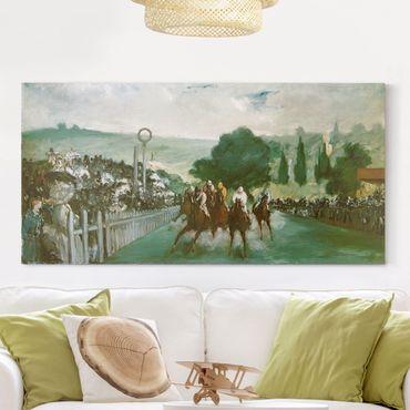Stampa su tela - Edouard Manet - Corse a Longchamp - Orizzontale 2:1