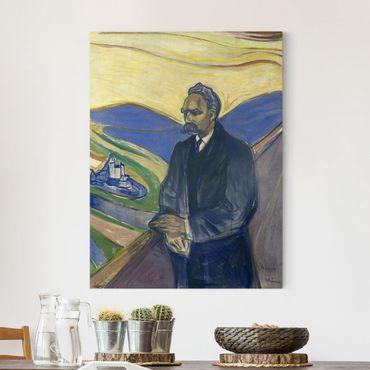 Stampa su tela - Edvard Munch - Ritratto di Friedrich Nietzsche - Verticale 3:4