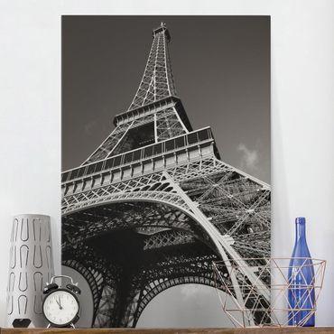 Stampa su tela Eiffel tower - Verticale 2:3