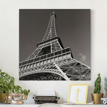 Stampa su tela - Eiffel Tower - Quadrato 1:1