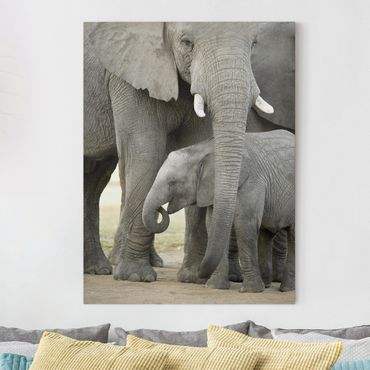Stampa su tela - Elephant Love - Verticale 3:4