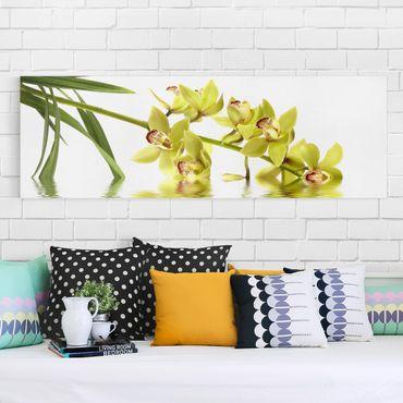 Stampa su tela - Elegant Orchid Waters - Panoramico