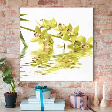 Stampa su tela - Elegant Orchid Waters - Quadrato 1:1