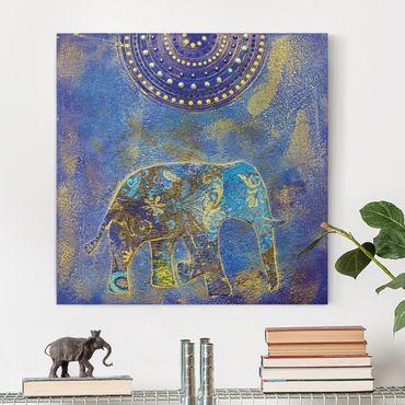 Stampa su tela - Elephant In Marrakech - Quadrato 1:1