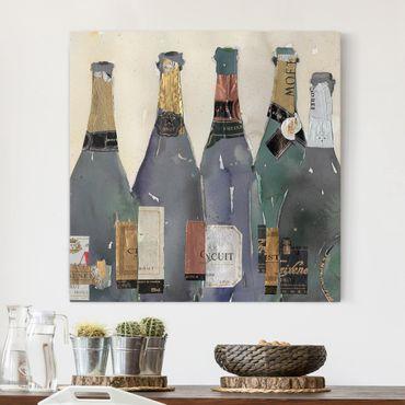 Stampa su tela - Stappato - Champagne - Quadrato 1:1