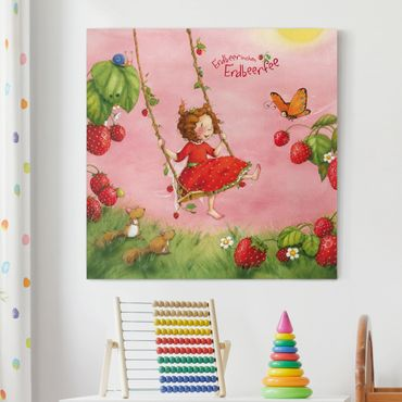 Stampa su tela - The Strawberry Fairy - Treeswing - Quadrato 1:1