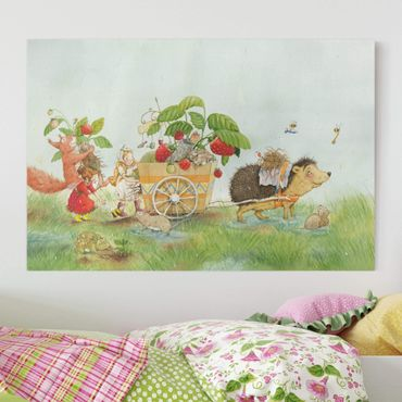 Stampa su tela - The Strawberry Fairy - With Hedgehog - Orizzontale 3:2