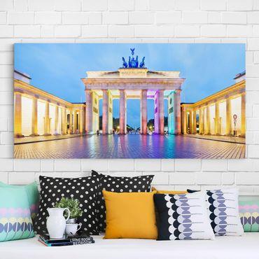 Stampa su tela - Illuminated Brandenburg Gate - Orizzontale 2:1