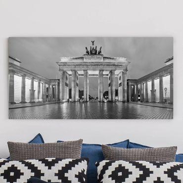 Stampa su tela - Illuminated Brandenburg Gate II - Orizzontale 2:1