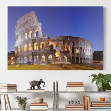 Stampa su tela - Illuminated Colosseum - Orizzontale 3:2