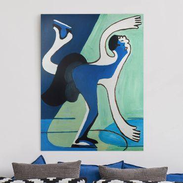 Stampa su tela - Ernst Ludwig Kirchner - Il pattinatore su ghiaccio - Verticale 3:4