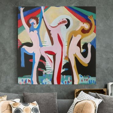 Stampa su tela - Ernst Ludwig Kirchner - Color Dance - Quadrato 1:1