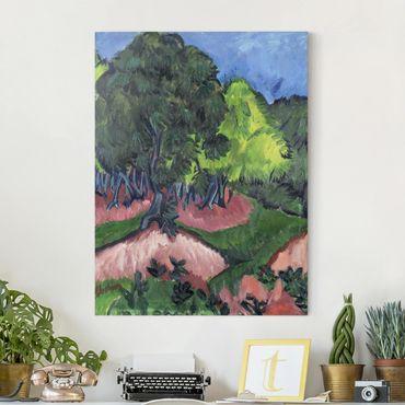Stampa su tela - Ernst Ludwig Kirchner - Paesaggio con Castagno - Verticale 3:4