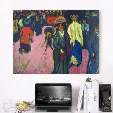 Stampa su tela - Ernst Ludwig Kirchner - Via, Dresda - Orizzontale 4:3