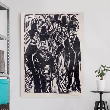 Stampa su tela - Ernst Ludwig Kirchner - Street Scene: Davanti a una vetrina - Verticale 3:4