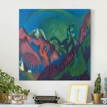 Stampa su tela - Ernst Ludwig Kirchner - Tinzenhorn, Canyon near Monstein - Quadrato 1:1