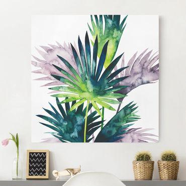 Stampa su tela - Exotic Foliage - Palma - Quadrato 1:1
