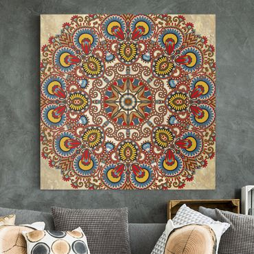 Stampa su tela - Coloured Mandala - Quadrato 1:1